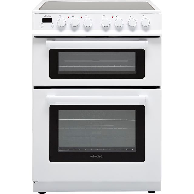 Electra TCR60W Electric Cooker with Ceramic Hob - White - B Rated