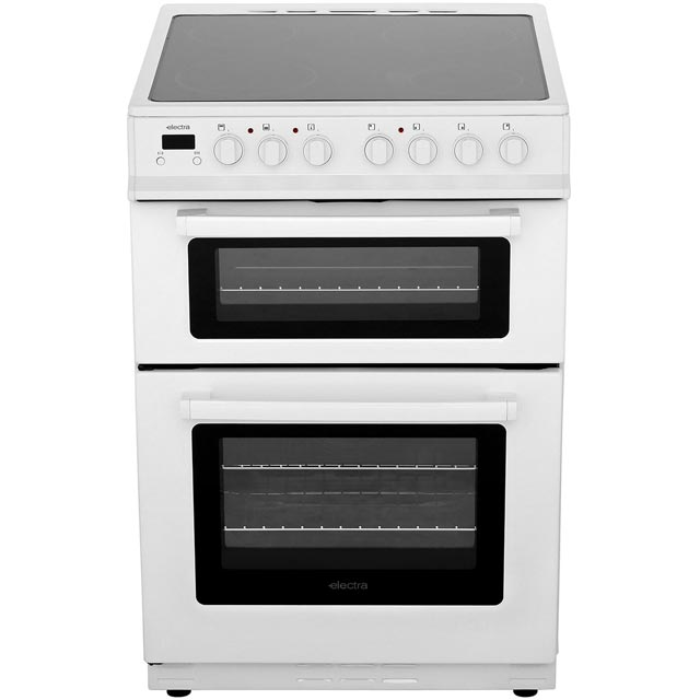 Electra TCR60W 60cm Electric Cooker with Ceramic Hob - White - A Rated - TCR60W_WH - 1