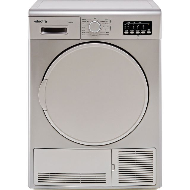 Electra TDC7100S 7Kg Condenser Tumble Dryer - Silver - B Rated - TDC7100S_SI - 1