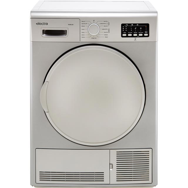 Electra TDC8112S 8Kg Condenser Tumble Dryer - Silver - B Rated - TDC8112S_SI - 1