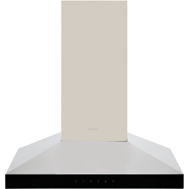 Elica CLAIRE-60 60 cm Chimney Cooker Hood - Stainless Steel / Black Glass - B Rated - CLAIRE-60_SSBG - 1