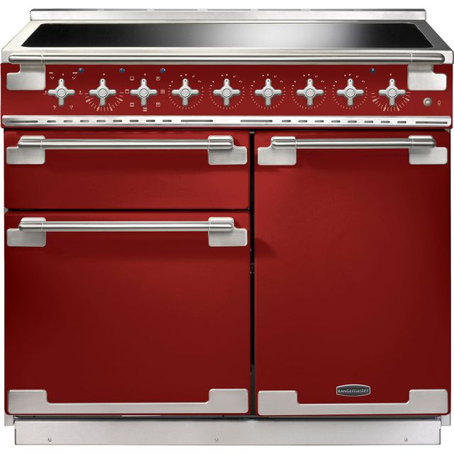Rangemaster Elise ELS100EIRD 100cm Electric Range Cooker with Induction Hob - Cherry Red - A/A Rated - ELS100EIRD_CHE - 1