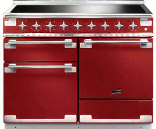 Rangemaster Elise ELS110EIRD 110cm Electric Range Cooker with Induction Hob - Cherry Red - A/A Rated - ELS110EIRD_CHE - 1