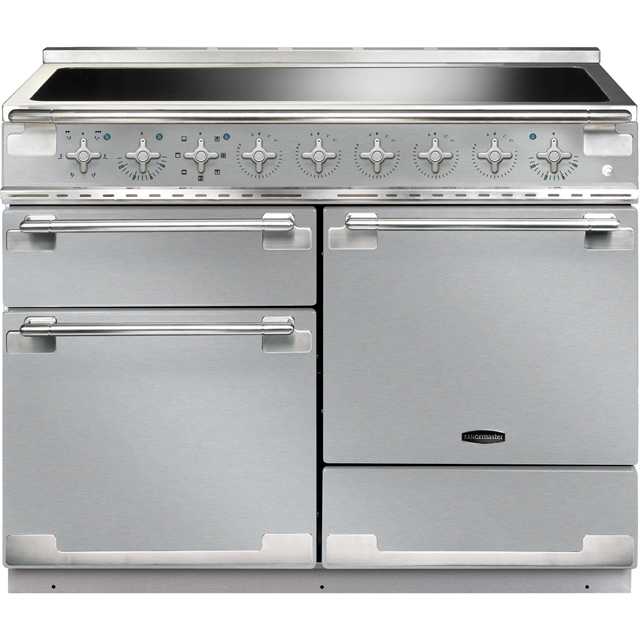 Rangemaster Elise ELS110EISS 110cm Electric Range Cooker with Induction Hob - Stainless Steel - A/A Rated - ELS110EISS_SS - 1