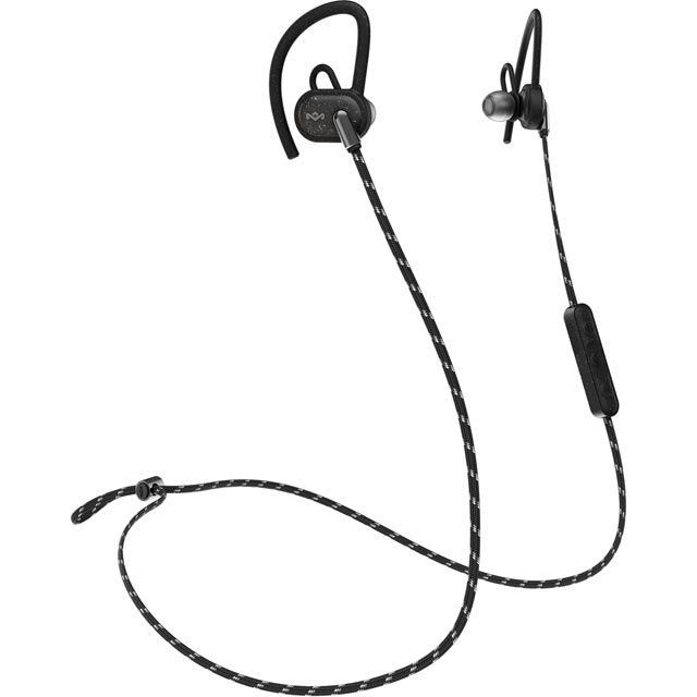 House of Marley Uprise In-ear Water Resistant Wireless Sports Headphones - Black - EM-FE063-BK - 1