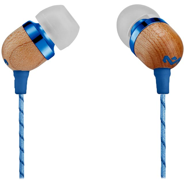 House of Marley Smile Jamaica In-ear Headphones - Denim Blue - EM-JE041-DN - 1
