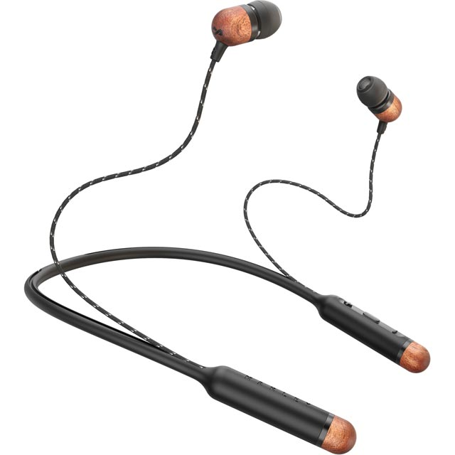 House of Marley Smile Jamaica In-Ear Water Resistant Wireless Bluetooth Headphones - Black