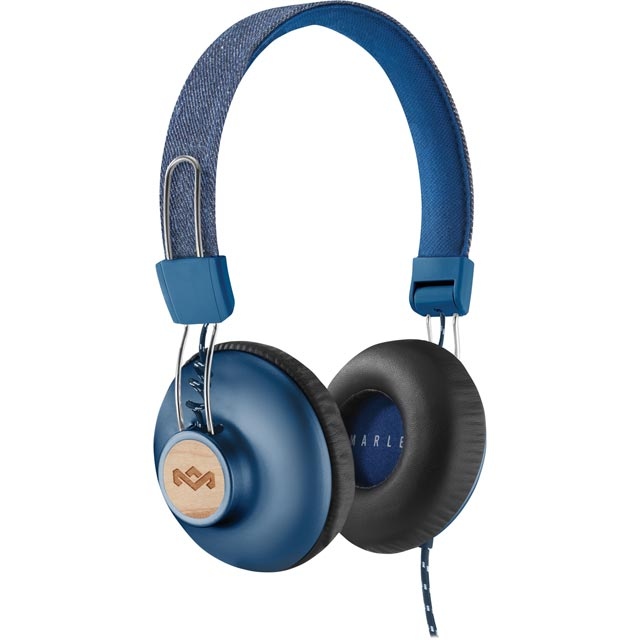 House of Marley Positive Vibration 2.0 On-ear Headphones - Denim Blue