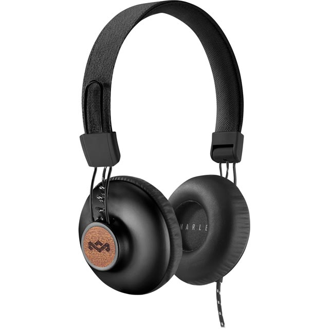 House of Marley Positive Vibration 2.0 On-ear Headphones - Black