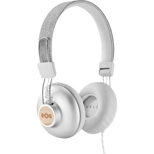 House of Marley Positive Vibration 2.0 On-ear Headphones - Silver - EM-JH121-SV - 1