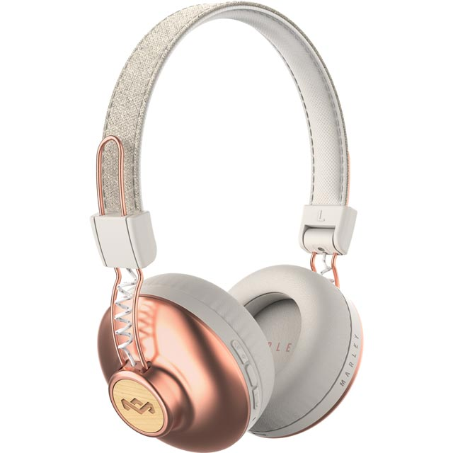 House of Marley Positive Vibration BT On-ear Wireless Headphones - Copper - EM-JH133-CP - 1