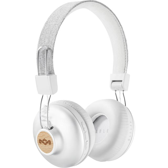 House of Marley Positive Vibration BT On-ear Wireless Headphones - Silver - EM-JH133-SV - 1