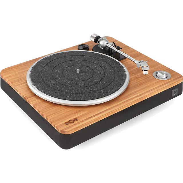House of Marley EM-JT000-SB Record Turntable with USB - Signature Black - EM-JT000-SB - 1