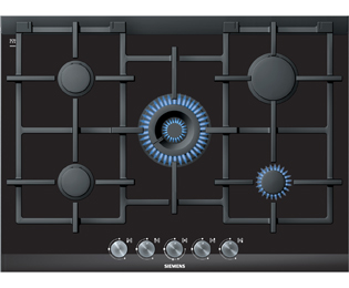 Siemens IQ-700 ER726RB71E 71cm Gas Hob - Black / Glass