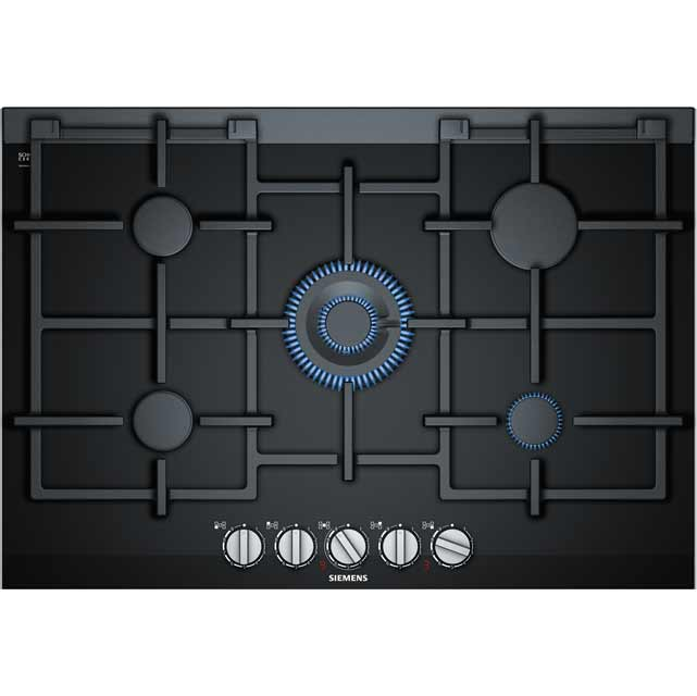 Siemens IQ-700 ER7A6RD70 Built In Gas Hob - Black - ER7A6RD70_BK - 1