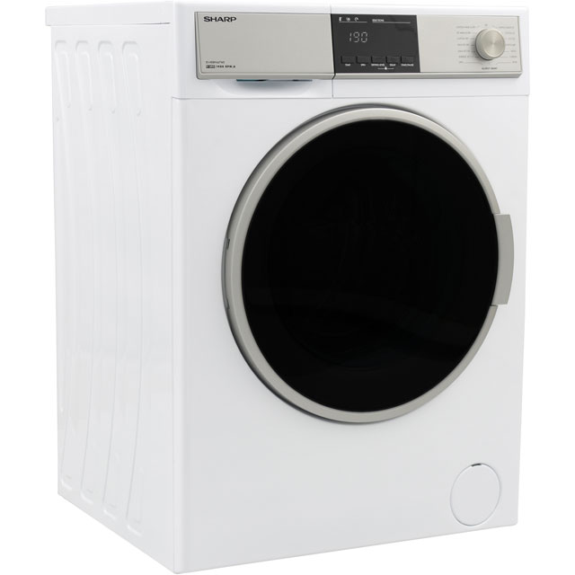Sharp ES-HDB9647W0 9Kg / 6Kg Washer Dryer - White - ES-HDB9647W0_WH - 2