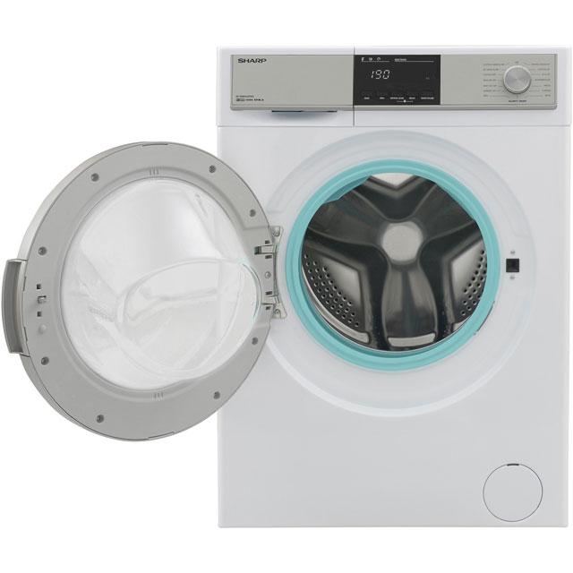 Sharp ES-HDB9647W0 9Kg / 6Kg Washer Dryer - White - ES-HDB9647W0_WH - 4