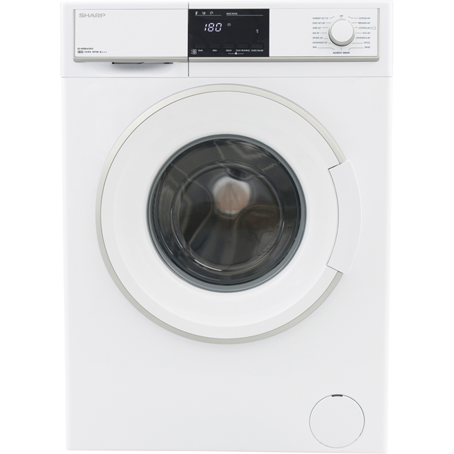 Sharp ES-HFB8143W3-EN 8Kg Washing Machine with 1400 rpm - White - A+++ Rated - ES-HFB8143W3-EN_WH - 1