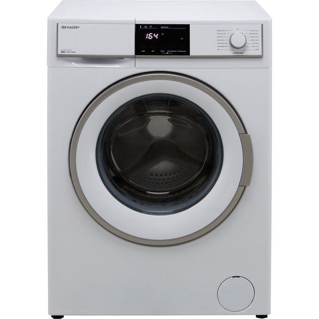 Sharp ES-HFB8143WD-EN 8Kg Washing Machine with 1400 rpm - White - D Rated