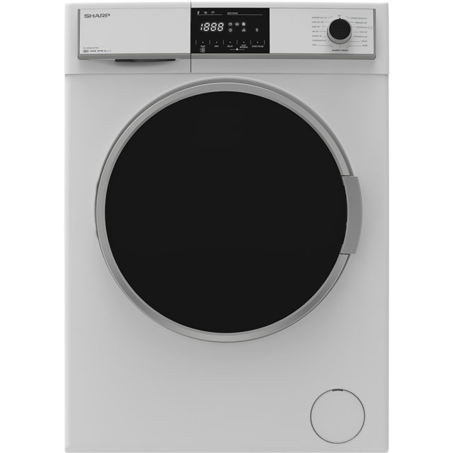 Sharp ES-HFH8147W3 8Kg Washing Machine with 1400 rpm - White - A+++ Rated
