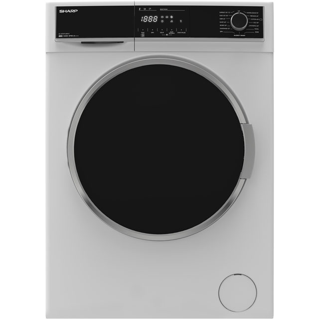 Sharp ES-HFH9148W3 9Kg Washing Machine with 1400 rpm - White - A+++ Rated