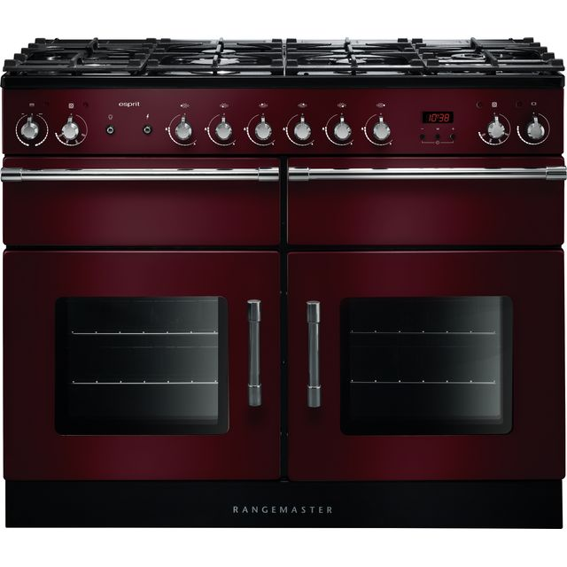 Rangemaster Esprit ESP110DFFCY/C 110cm Dual Fuel Range Cooker - Cranberry - A/A Rated - ESP110DFFCY/C_CY - 1