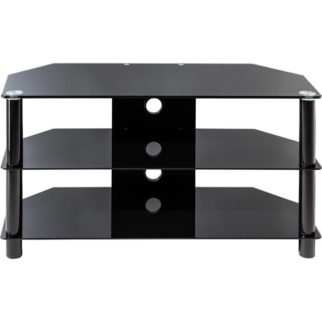 Alphason Essentials ESS1000/3-BLK 3 Shelf TV Stand - Black - ESS1000/3-BLK - 1