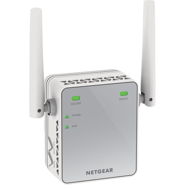 Netgear EX2700-100UKS Routers & Networking in White