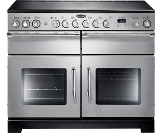 Rangemaster Excel 110cm Electric Range Cooker with Ceramic Hob - Stainless Steel / Chrome - A Rated