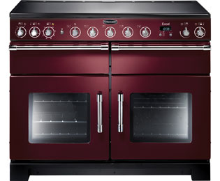 Rangemaster Excel 110cm Electric Range Cooker with Induction Hob - Cranberry - A/A Rated