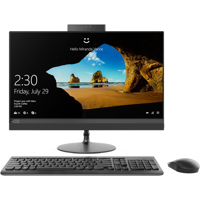 "Lenovo All In One 23.8"" Intel® Core™ i5+ 8GB RAM - Black"