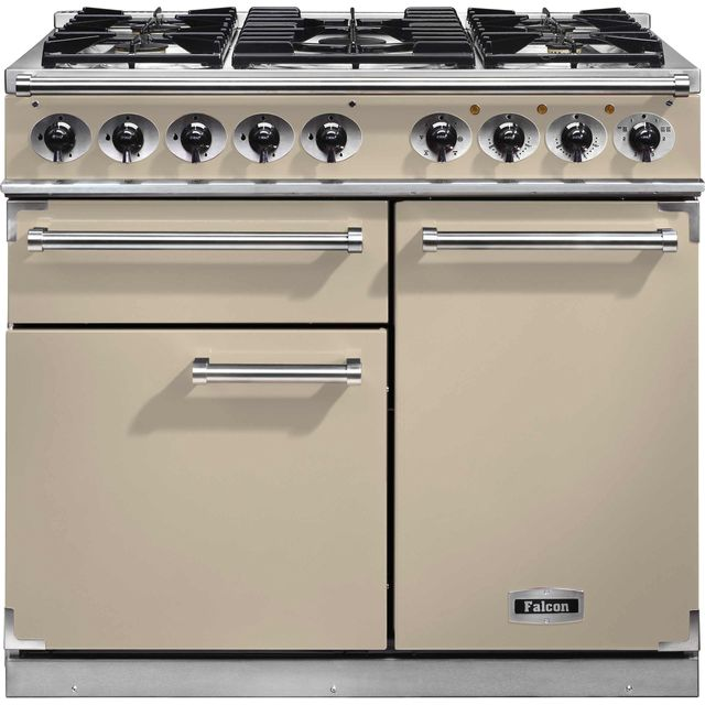 Falcon 1000 DELUXE F1000DXDFCR/CM 100cm Dual Fuel Range Cooker - Cream - A/A Rated - F1000DXDFCR/CM_CR - 1