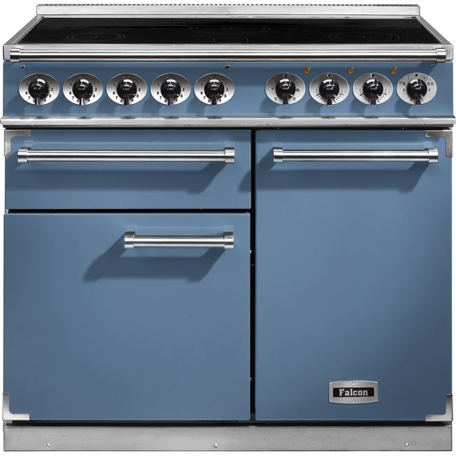 Falcon 1000 DELUXE F1000DXEICA/N 100cm Electric Range Cooker with Induction Hob - China Blue - A/A Rated - F1000DXEICA/N_CHB - 1