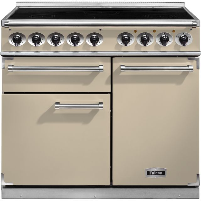 Falcon 1000 DELUXE 100cm Electric Range Cooker with Induction Hob - Cream - A/A Rated
