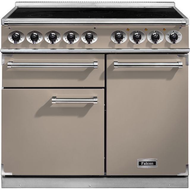 Falcon 1000 DELUXE 100cm Electric Range Cooker with Induction Hob - Fawn - A/A Rated