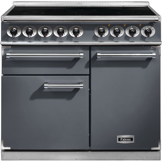 Falcon 1000 DELUXE F1000DXEISL/N 100cm Electric Range Cooker with Induction Hob - Slate - A/A Rated