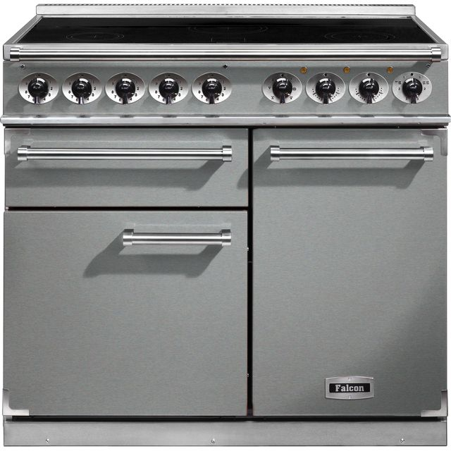 Falcon 1000 DELUXE 100cm Electric Range Cooker with Induction Hob - Stainless Steel - A/A Rated