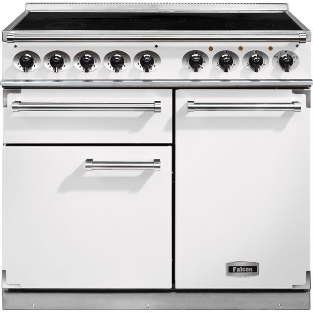 Falcon 1000 DELUXE F1000DXEIWH/N 100cm Electric Range Cooker with Induction Hob - White - A/A Rated - F1000DXEIWH/N_WH - 1