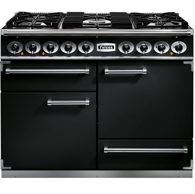 Falcon 1092 DELUXE F1092DXDFBL/CM 110cm Dual Fuel Range Cooker - Black - A/A Rated - F1092DXDFBL/CM_BK - 1