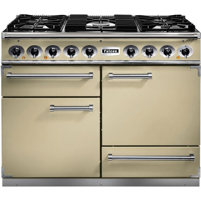 Falcon 1092 DELUXE F1092DXDFCR/CM 110cm Dual Fuel Range Cooker - Cream - A/A Rated - F1092DXDFCR/CM_CR - 1