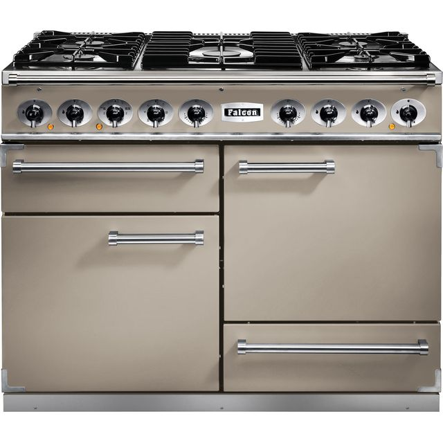 Falcon 1092 DELUXE F1092DXDFFN/NM 110cm Dual Fuel Range Cooker - Fawn - A/A Rated - F1092DXDFFN/NM_FA - 1