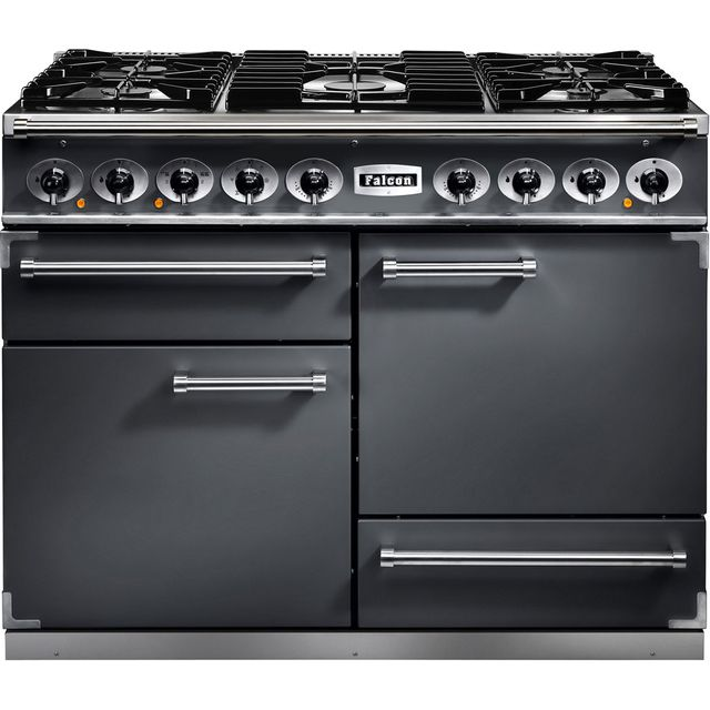 Falcon 1092 DELUXE F1092DXDFSL/NM 110cm Dual Fuel Range Cooker - Slate - A/A Rated