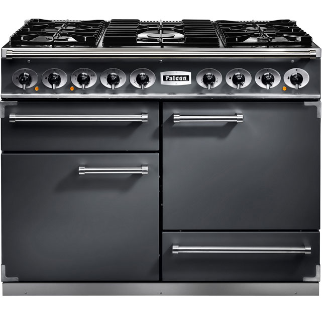 Falcon 1092 DELUXE F1092DXDFSL/NM 110cm Dual Fuel Range Cooker - Slate - A/A Rated - F1092DXDFSL/NM_SL - 1