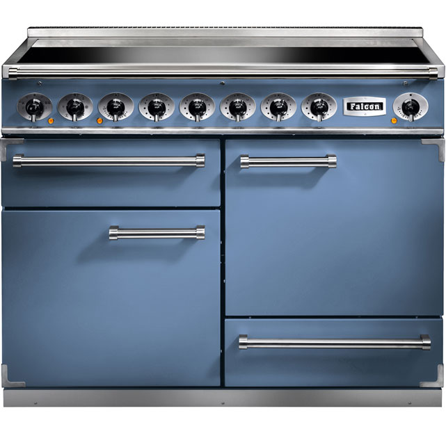 Falcon 1092 DELUXE F1092DXEICA/N 110cm Electric Range Cooker with Induction Hob - China Blue - A/A Rated - F1092DXEICA/N_CHB - 1