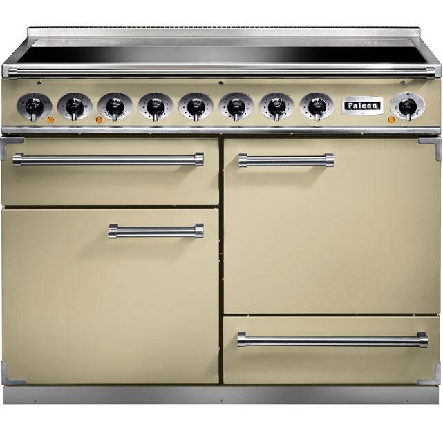 Falcon 1092 DELUXE F1092DXEICR/C 110cm Electric Range Cooker with Induction Hob - Cream - A/A Rated - F1092DXEICR/C_CR - 1