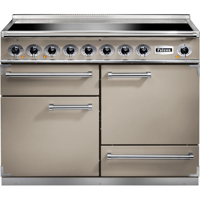 Falcon 1092 DELUXE 110cm Electric Range Cooker with Induction Hob - Fawn - A/A Rated