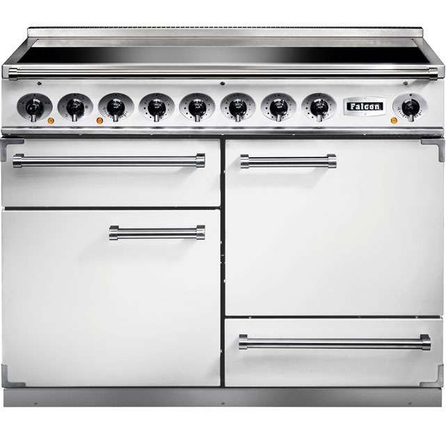 Falcon 1092 DELUXE F1092DXEIWH/N 110cm Electric Range Cooker with Induction Hob - White - A/A Rated