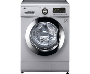 LG Direct Drive Free Standing Washer Dryer in Silver