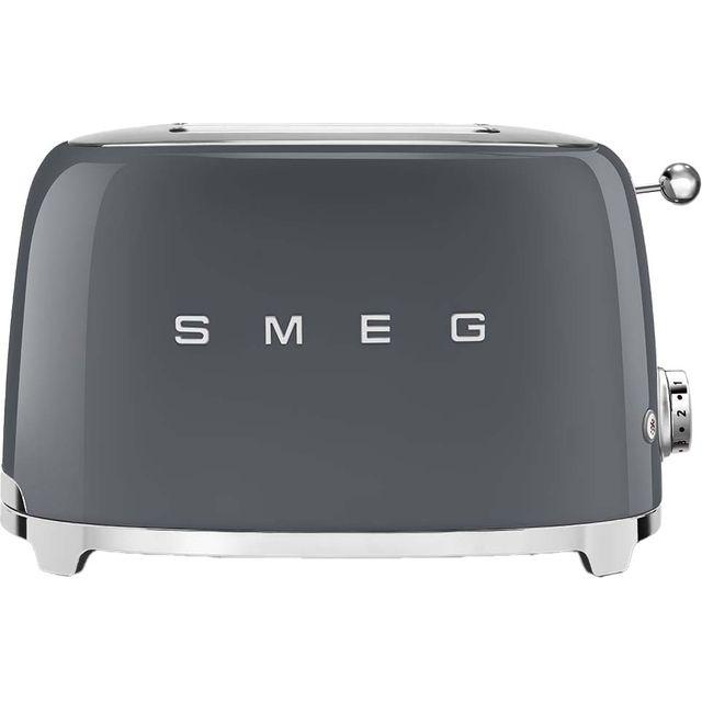 Smeg 50's Retro TSF01GRUK 2 Slice Toaster - Grey