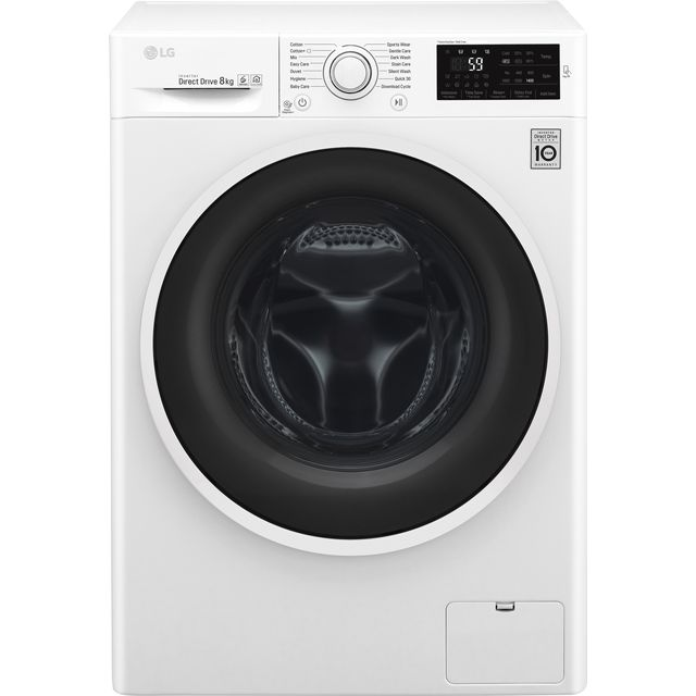 LG F4J608WN Washing Machine - White - F4J608WN_WH - 1